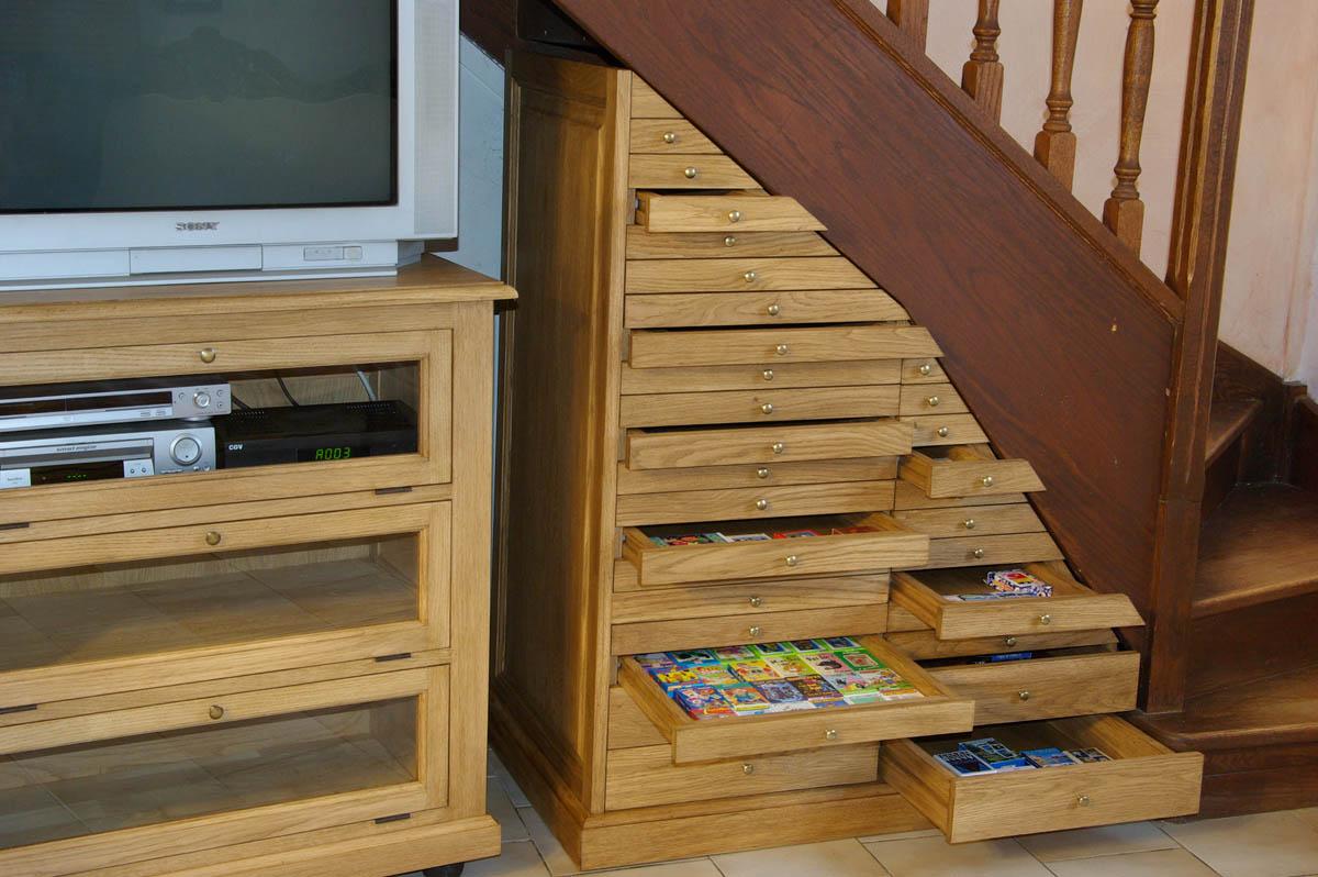 Meuble sur mesure pour collection de jeux maisoncelle for Meuble pour collection
