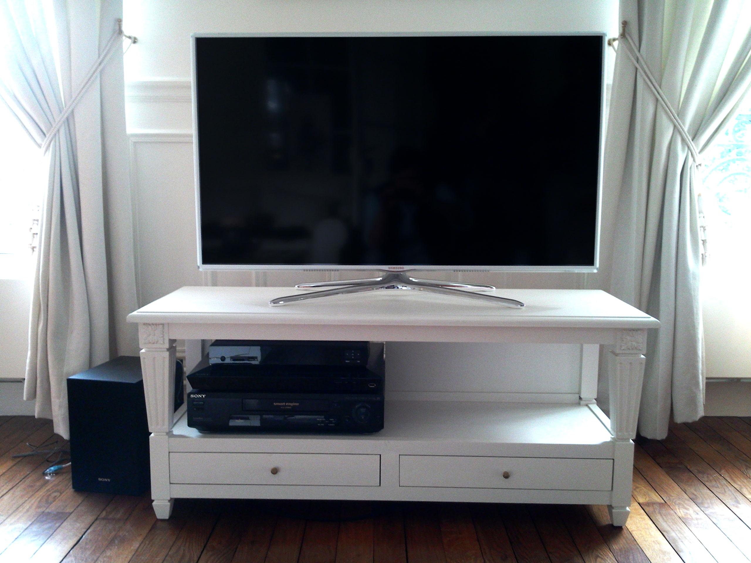 meuble tv ensemble salon salle manger bois colombes